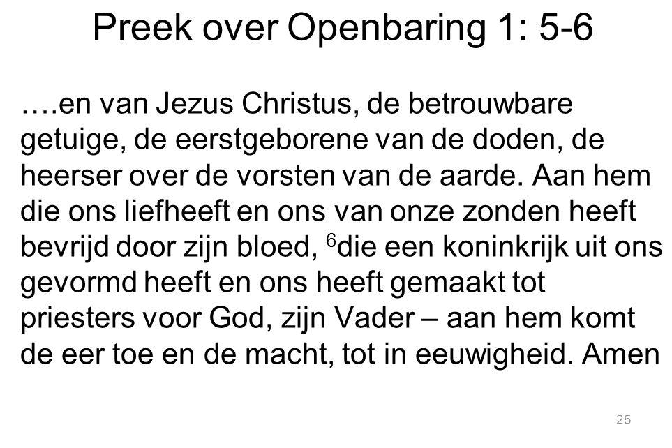 Preek over Openbaring 1: 5-6
