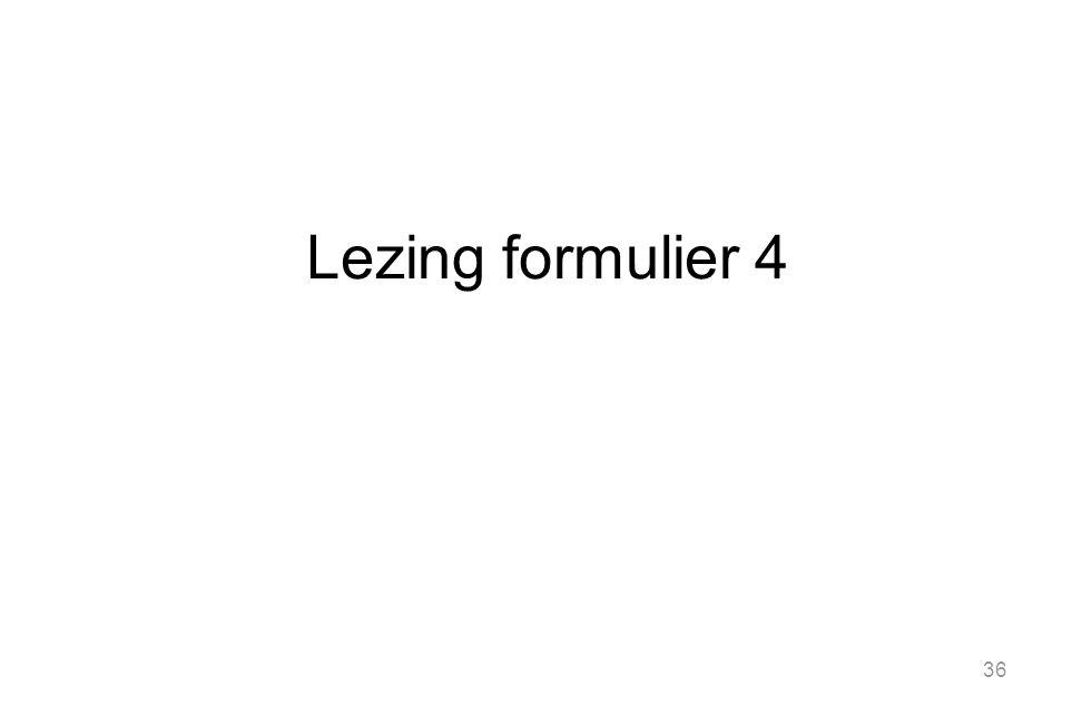 Lezing formulier 4