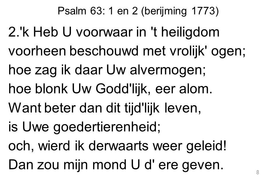Psalm 63: 1 en 2 (berijming 1773)