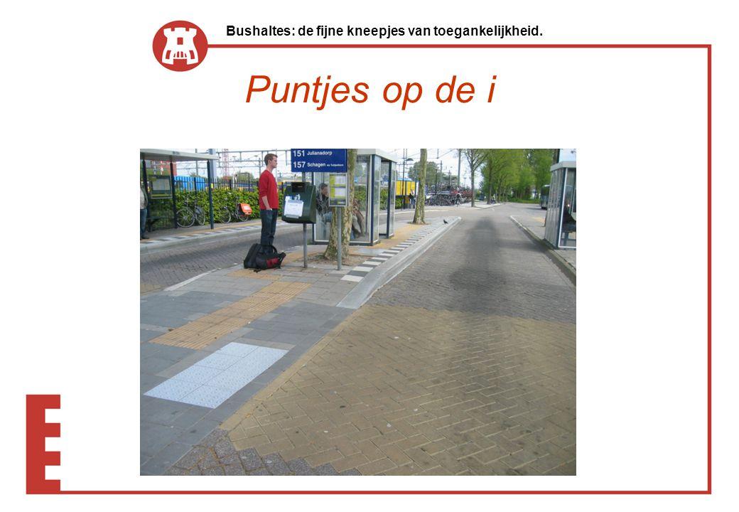 Bushaltes: de fijne kneepjes van toegankelijkheid.