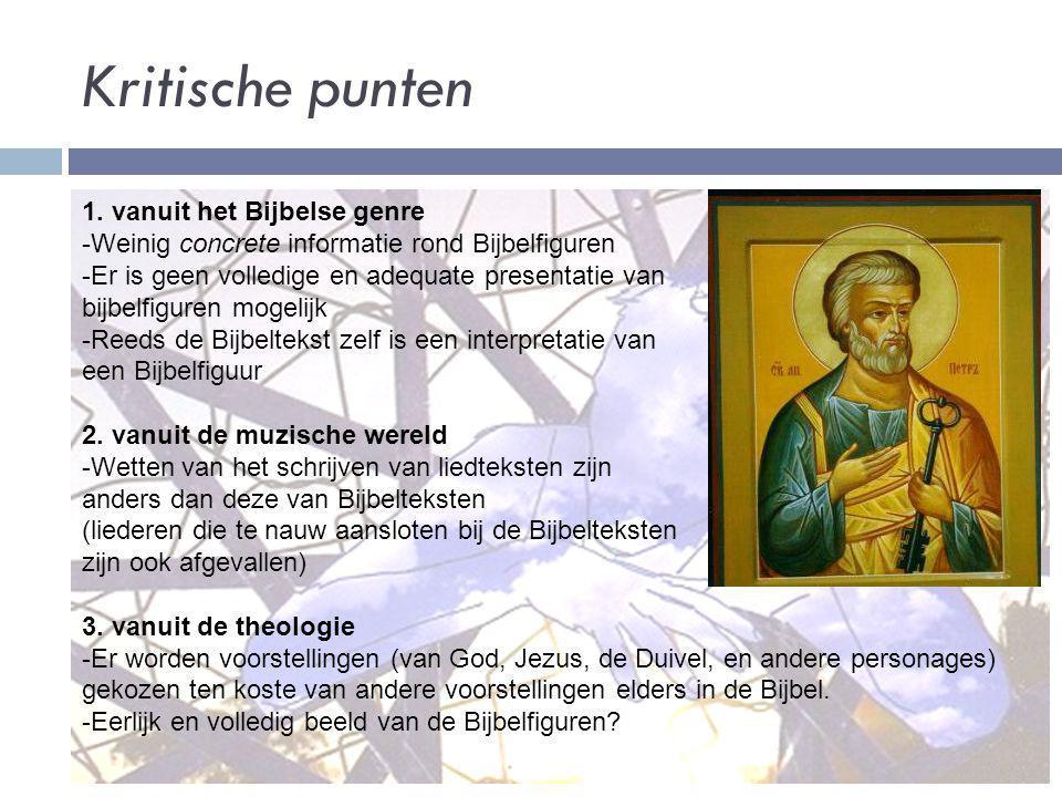 Kritische punten 1. vanuit het Bijbelse genre