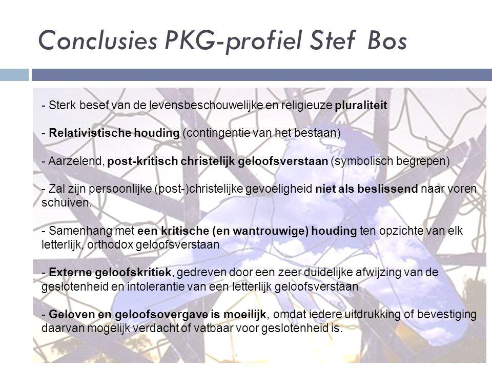 Conclusies PKG-profiel Stef Bos