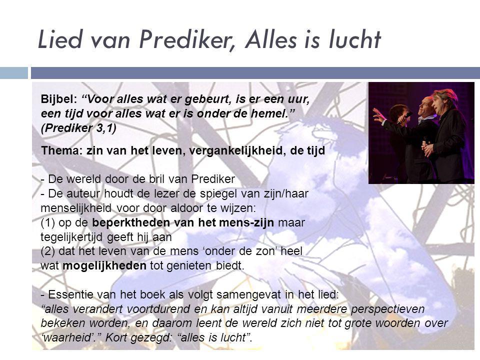 Lied van Prediker, Alles is lucht