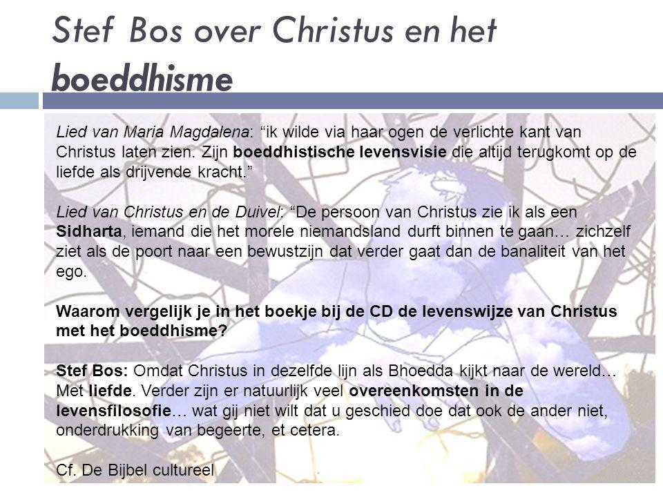 Stef Bos over Christus en het boeddhisme