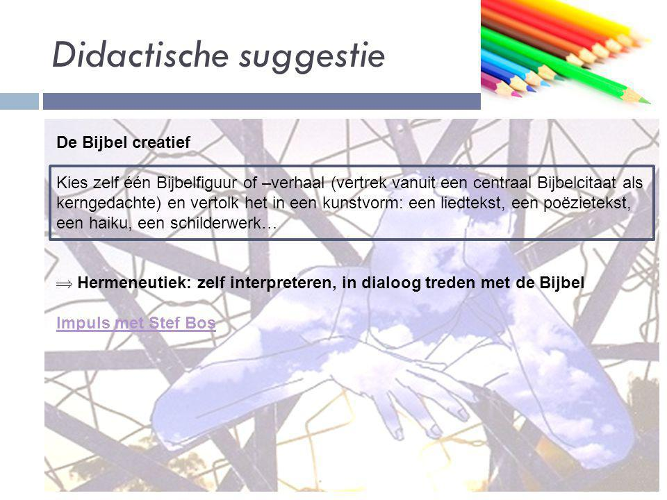 Didactische suggestie