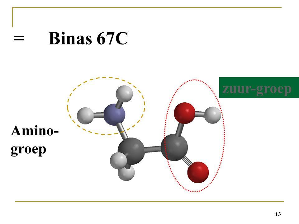 = Binas 67C zuur-groep Amino-groep