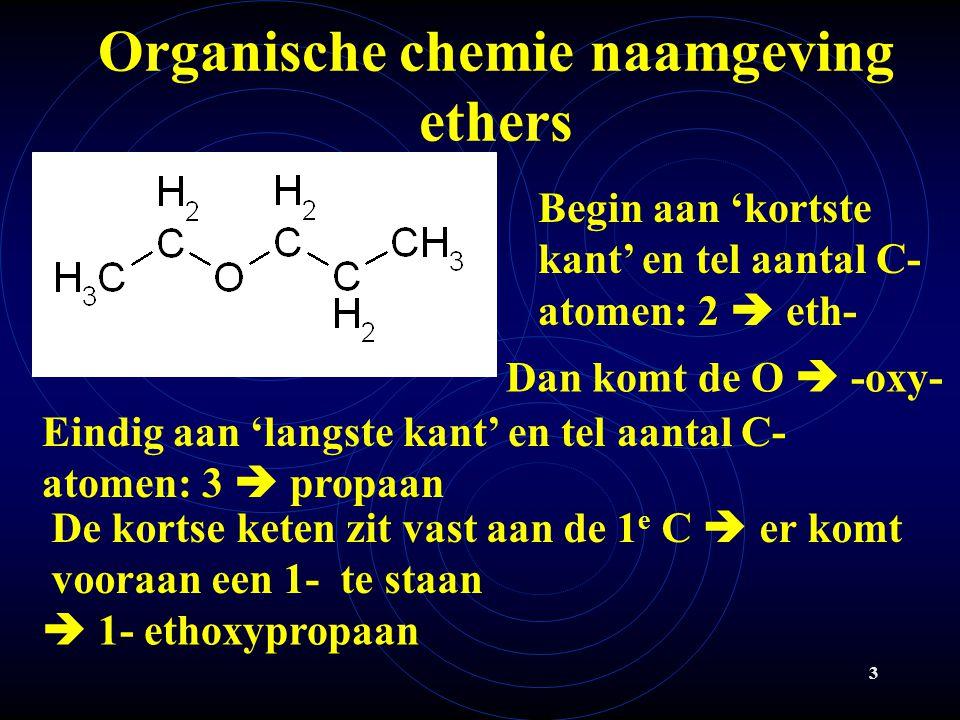 Organische chemie naamgeving ethers