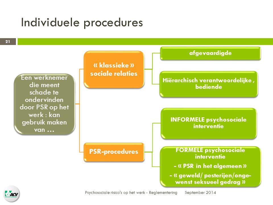 Individuele procedures