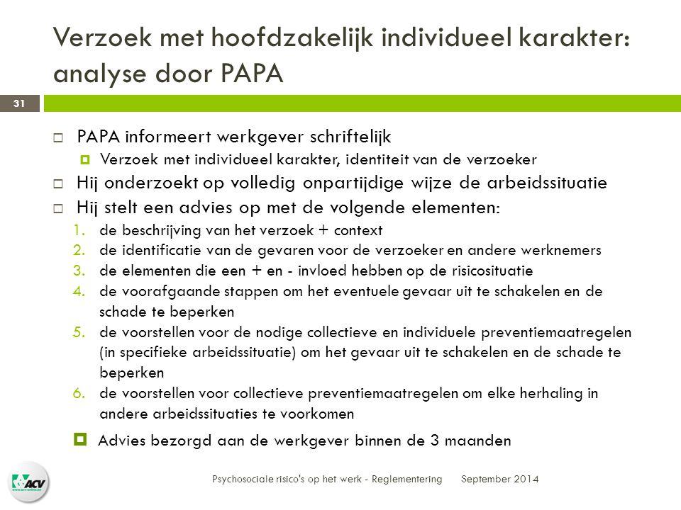 Verzoek met hoofdzakelijk individueel karakter: analyse door PAPA