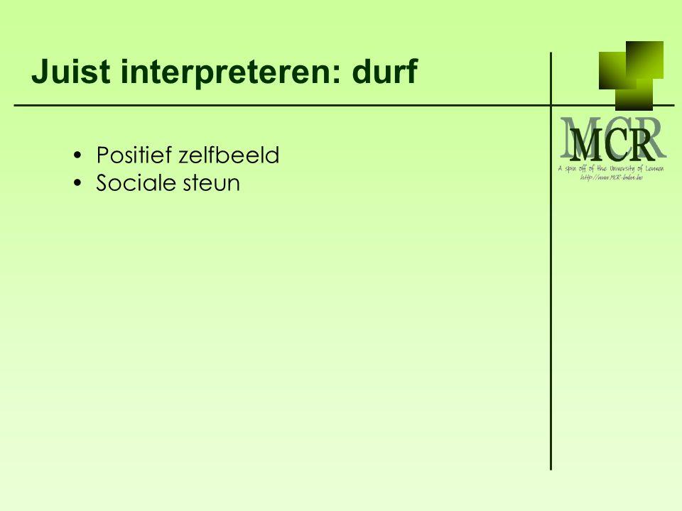 Juist interpreteren: durf