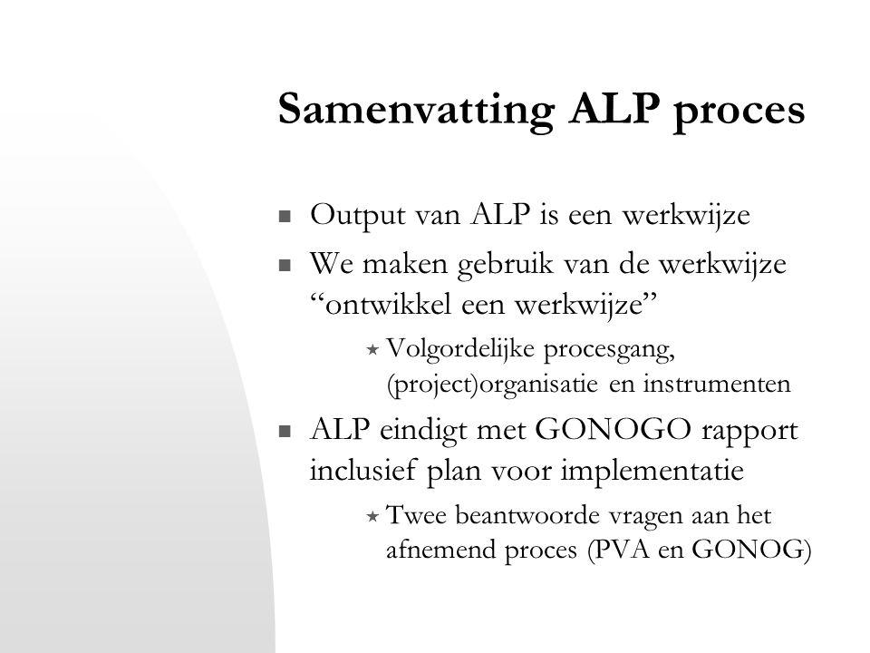 Samenvatting ALP proces