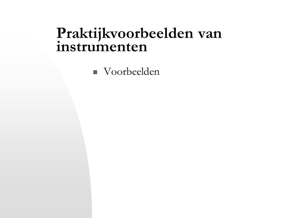 Praktijkvoorbeelden van instrumenten