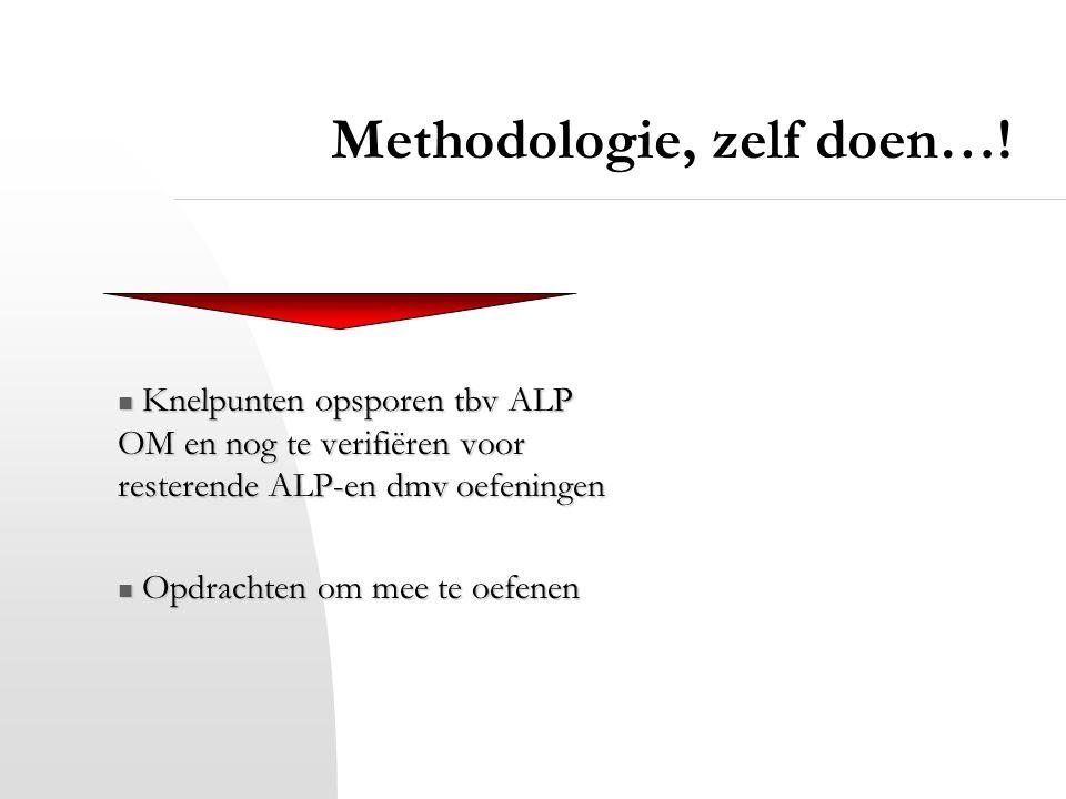 Methodologie, zelf doen…!