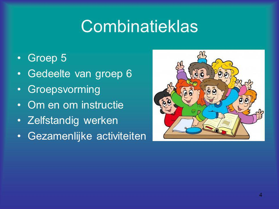 Combinatieklas Groep 5 Gedeelte van groep 6 Groepsvorming