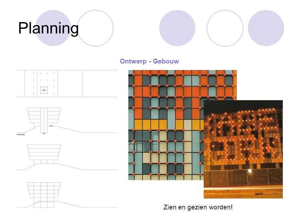 Planning Ontwerp - Gebouw Zien en gezien worden!