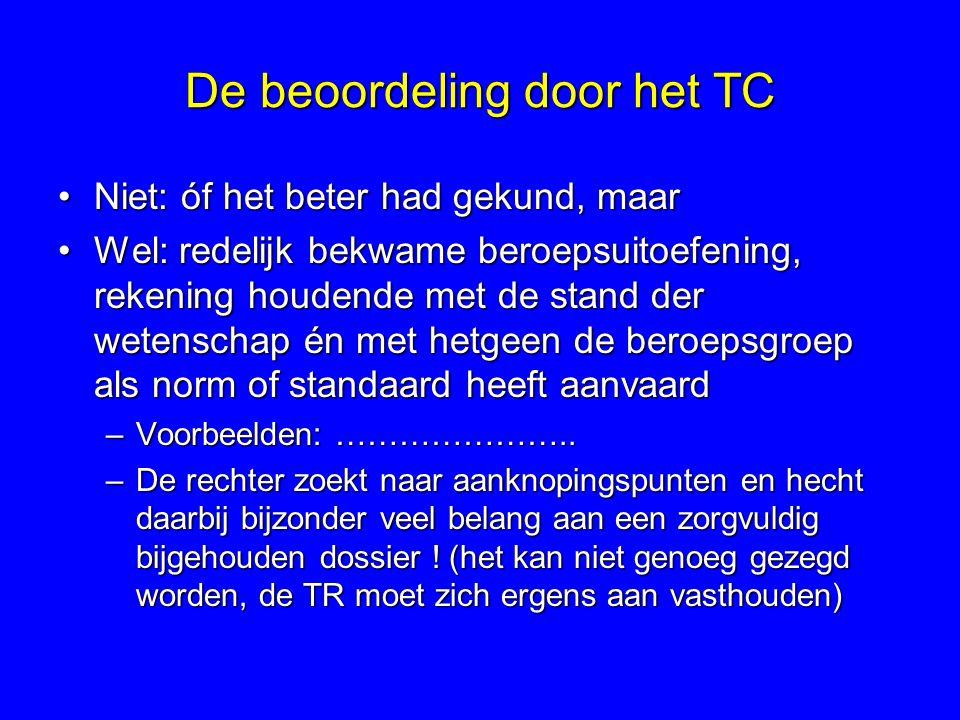 De beoordeling door het TC