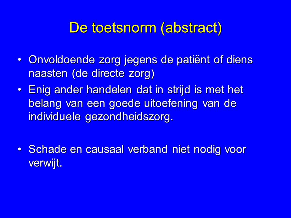 De toetsnorm (abstract)
