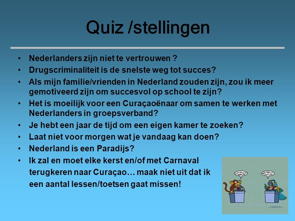 Quiz /stellingen Nederlanders zijn niet te vertrouwen