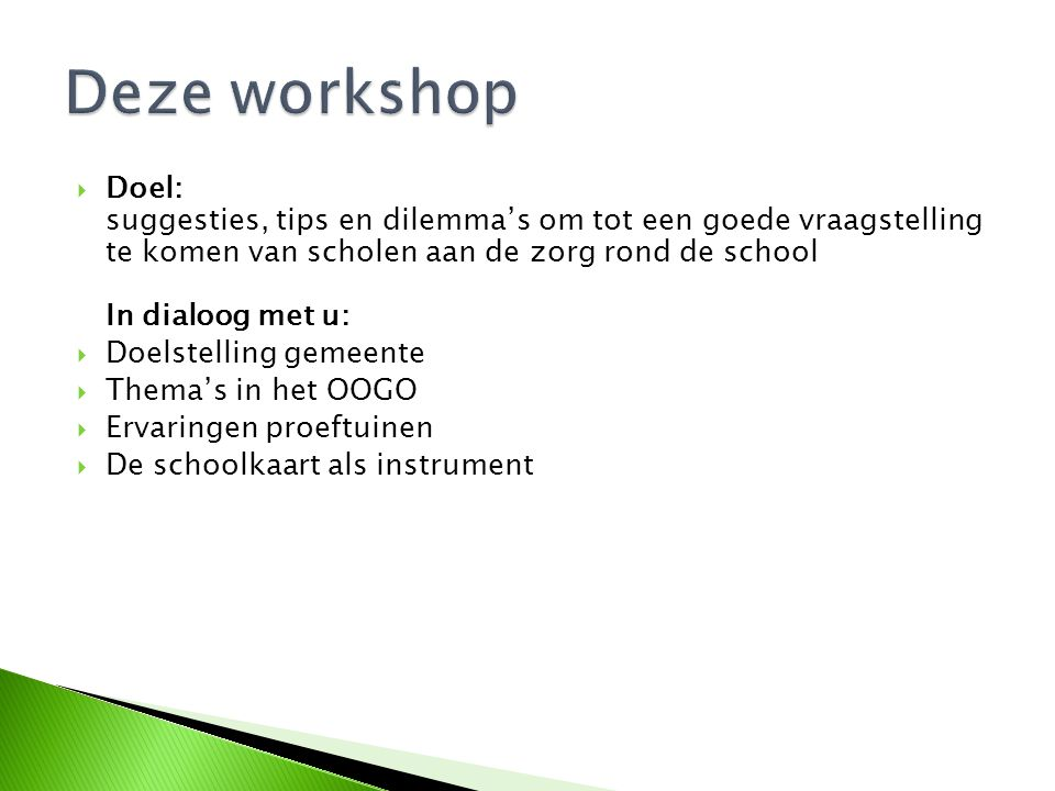 Deze workshop