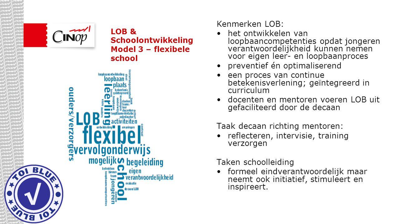 LOB & Schoolontwikkeling Model 3 – flexibele school