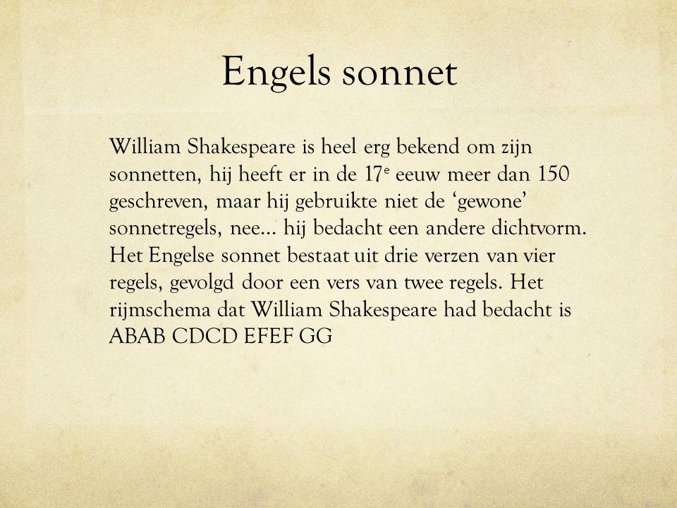 Engels sonnet