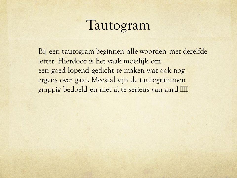 Tautogram