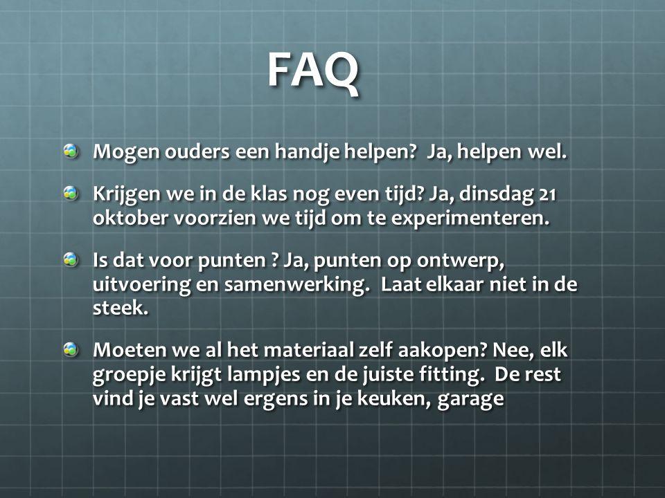 FAQ Mogen ouders een handje helpen Ja, helpen wel.