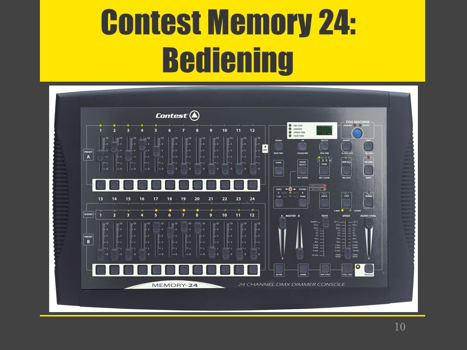 Contest Memory 24: Bediening
