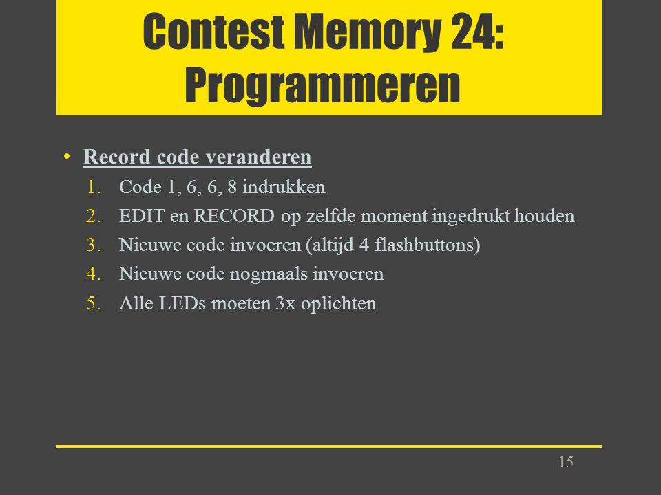 Contest Memory 24: Programmeren