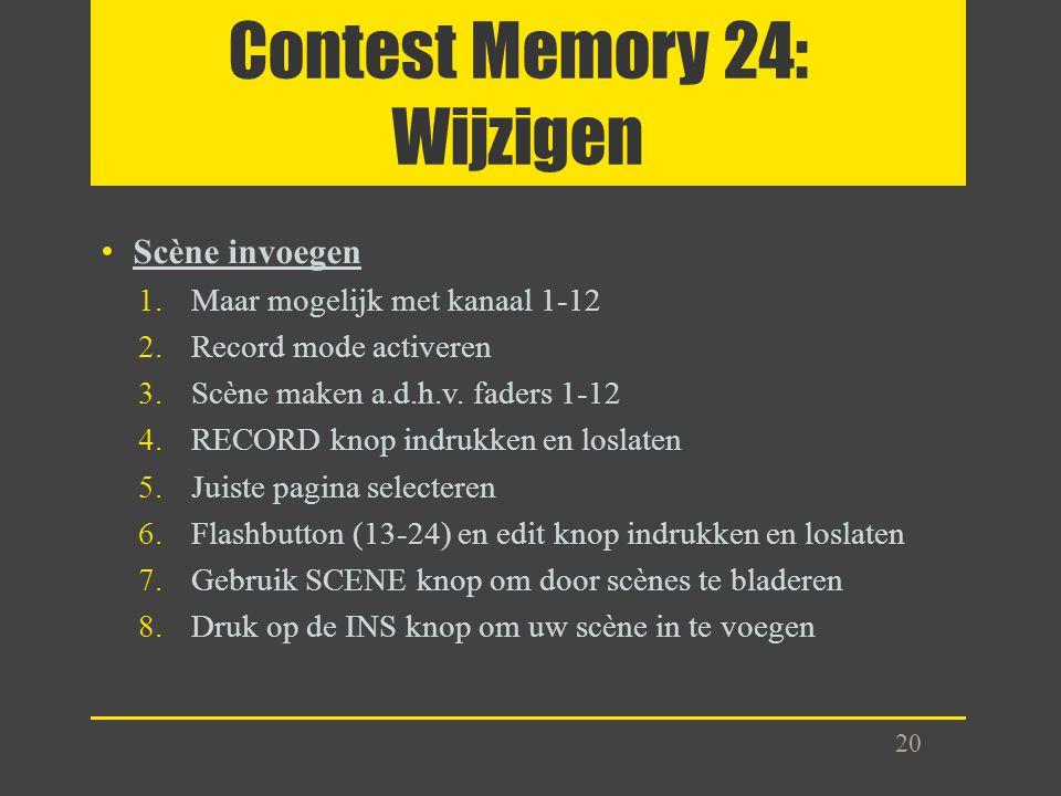 Contest Memory 24: Wijzigen