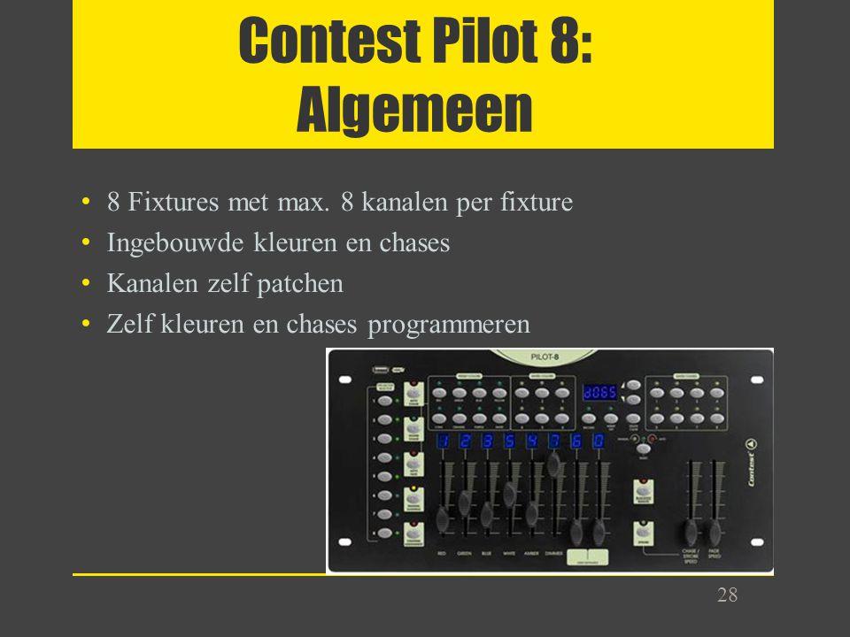 Contest Pilot 8: Algemeen