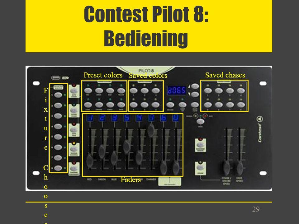 Contest Pilot 8: Bediening