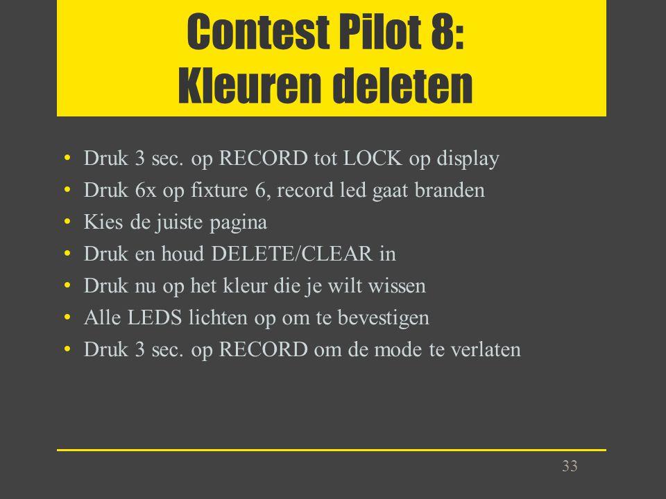 Contest Pilot 8: Kleuren deleten