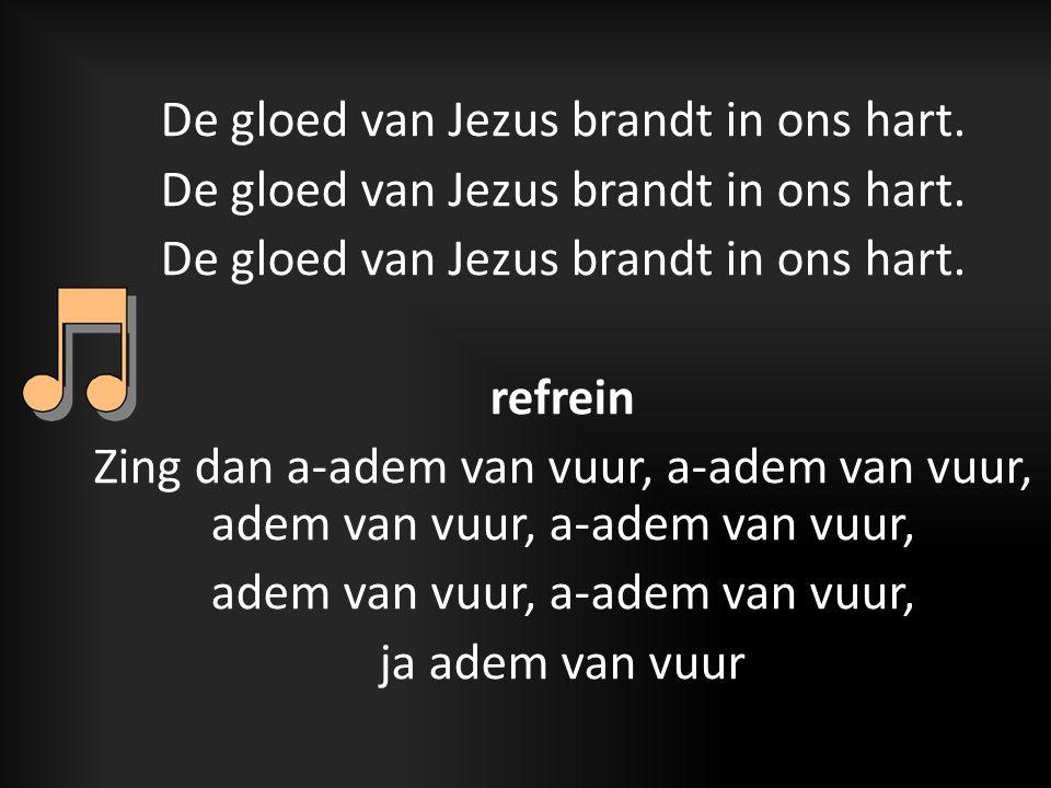 De gloed van Jezus brandt in ons hart