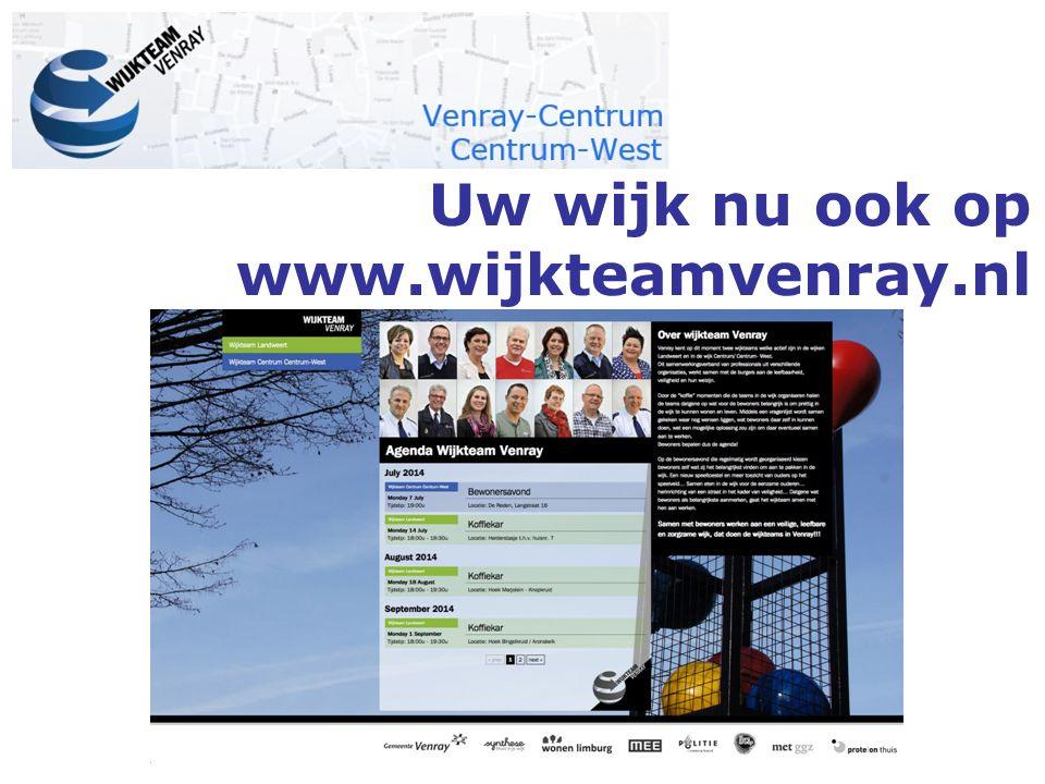 Uw wijk nu ook op www.wijkteamvenray.nl