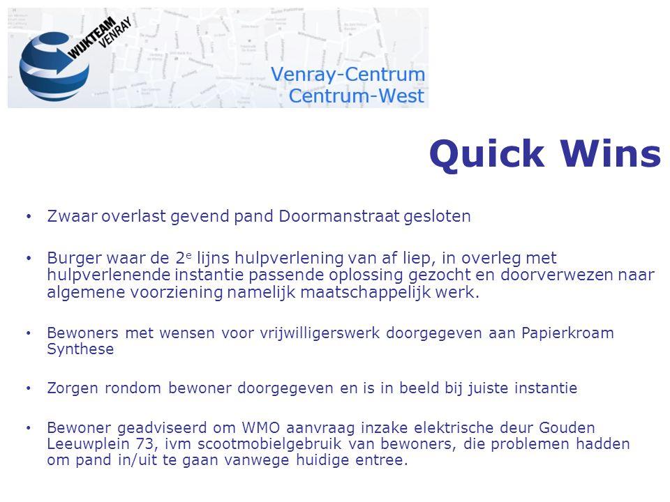 Quick Wins Zwaar overlast gevend pand Doormanstraat gesloten