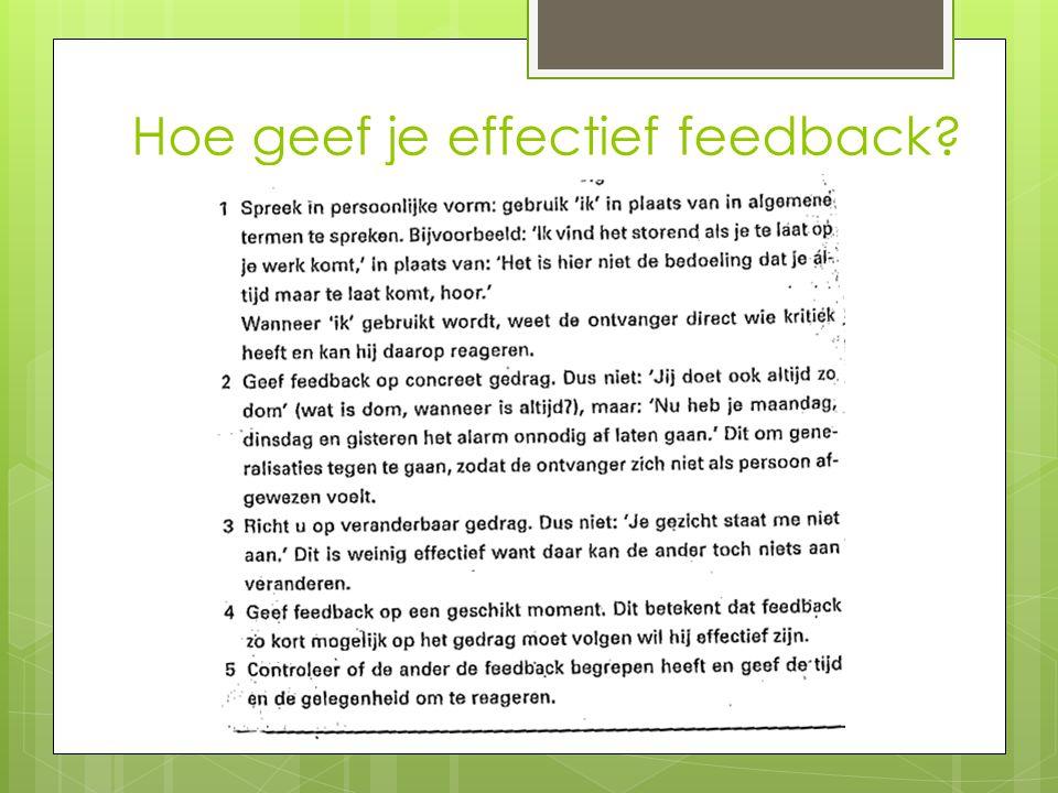 Hoe geef je effectief feedback