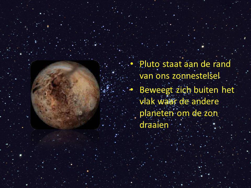 Pluto staat aan de rand van ons zonnestelsel
