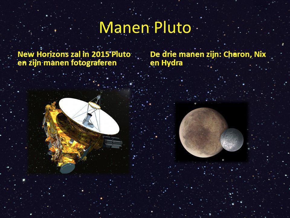 Manen Pluto New Horizons zal in 2015 Pluto en zijn manen fotograferen