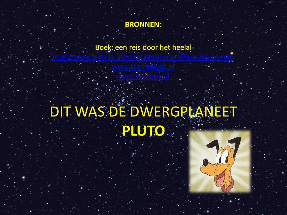 DIT WAS DE DWERGPLANEET PLUTO