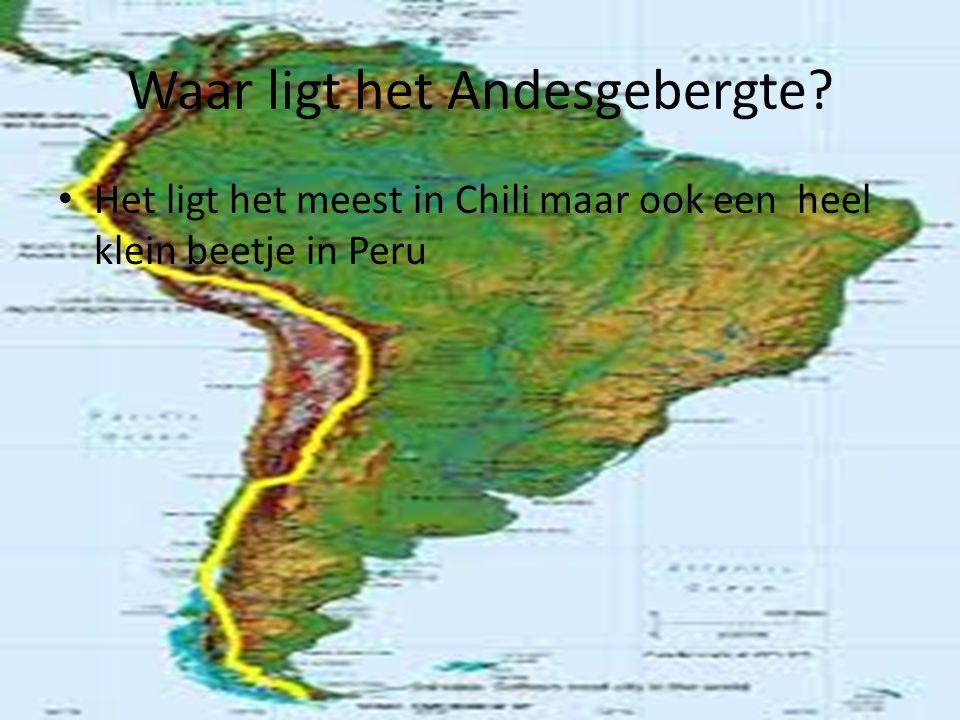 Waar ligt het Andesgebergte