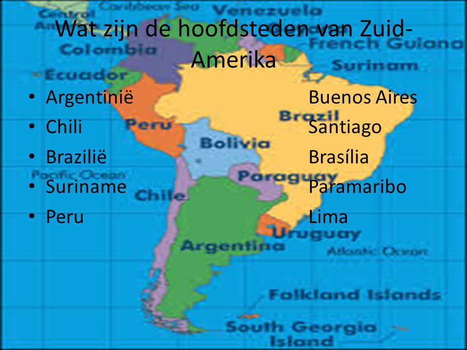 Wat zijn de hoofdsteden van Zuid-Amerika