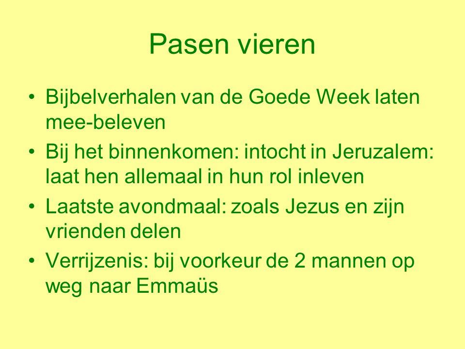 Pasen vieren Bijbelverhalen van de Goede Week laten mee-beleven