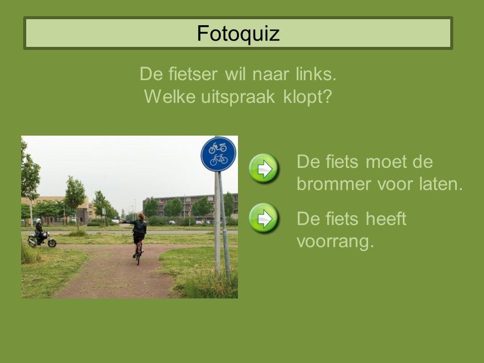 De fietser wil naar links.