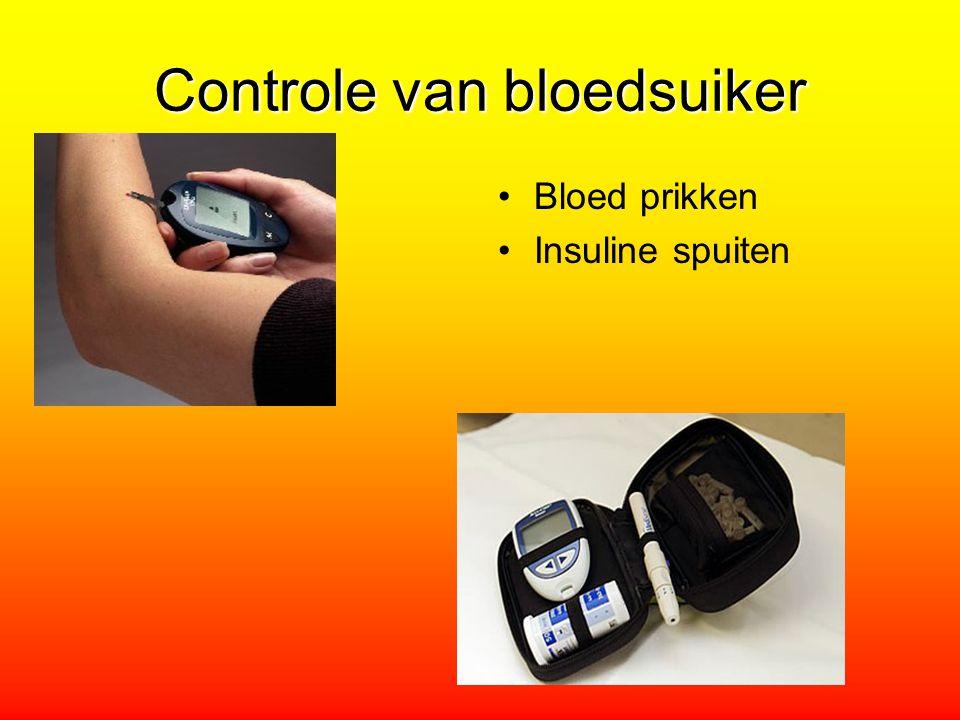 Controle van bloedsuiker