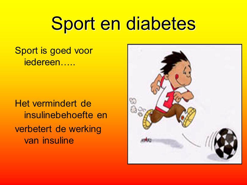 Sport en diabetes Sport is goed voor iedereen…..