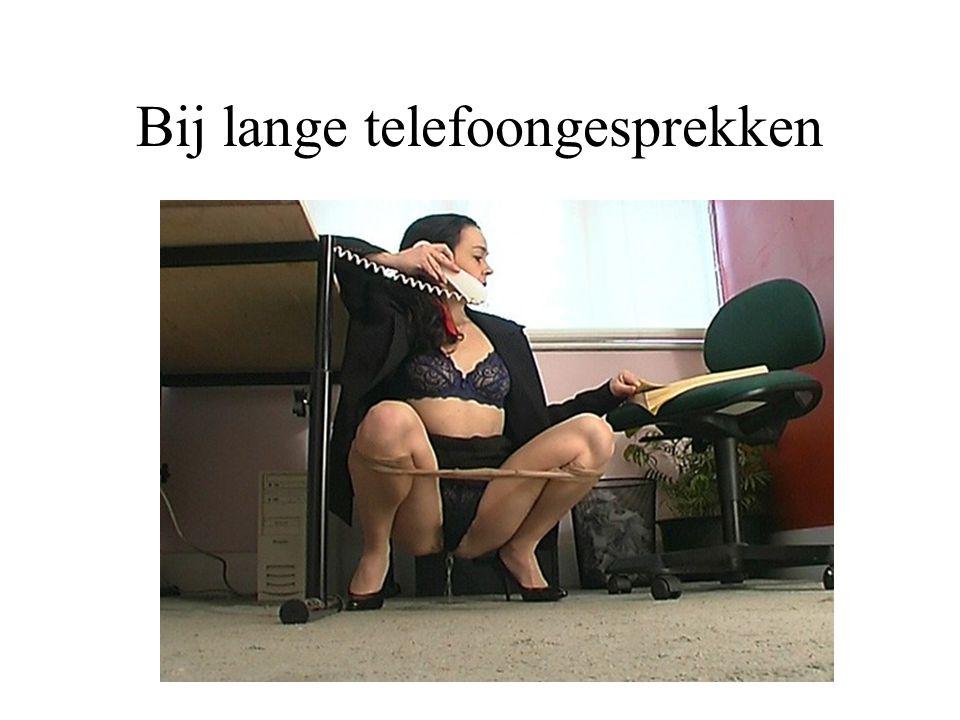 Bij lange telefoongesprekken