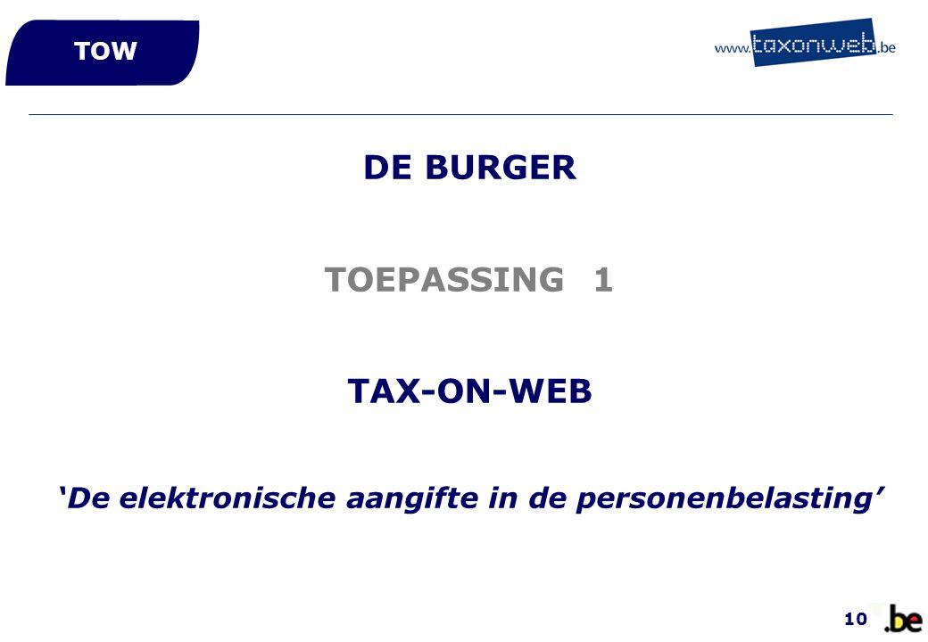 'De elektronische aangifte in de personenbelasting'