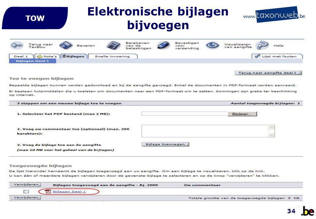 Elektronische bijlagen bijvoegen