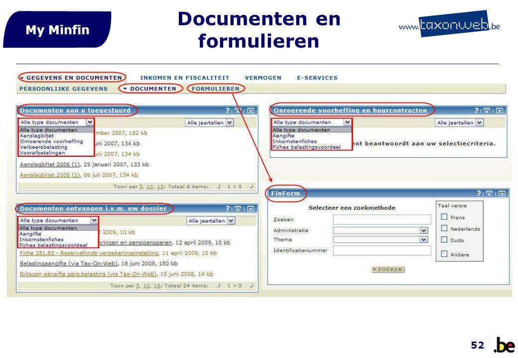 Documenten en formulieren